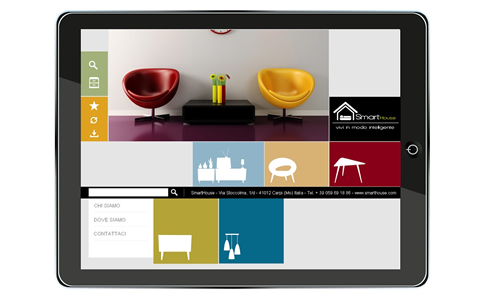 Reselling home accessories catalog for iPad – From the PDF product catalogs was been developed an application with a visual index that allows you to quickly search and browse the full range of products for sale.