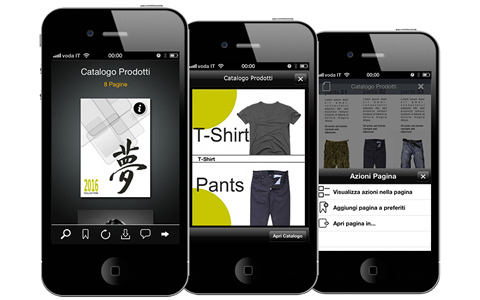Paperfly App for iPhone - Products catalog with visual index of categories and multimedia PDF.